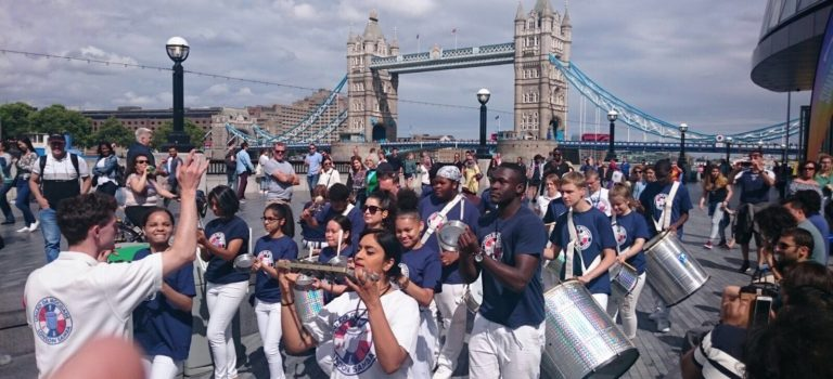 UDMSamba, The Scoop @More London, Uniao da Mocidade, Youth samba London, Bateria, Samba Drummers, Tower Bridge
