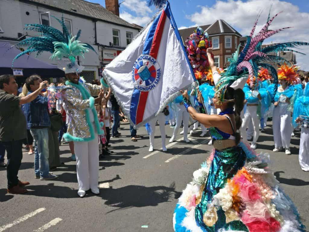 UDMSamba, Cowley Road Carnival Porta Bandeira, Uniao da Mocidade, Youth samba London and Oxford, Porta Bandeira, Mestre Sala,