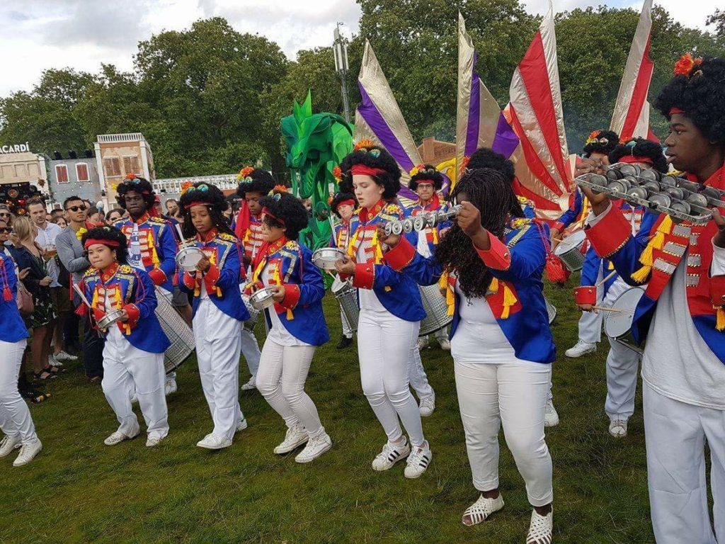 Carnival Samba, British Summertime Festival, Samba Drumming, youth samba